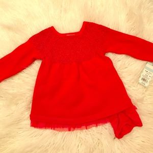 New with tags! Baby girls detailed dress! 6-9M